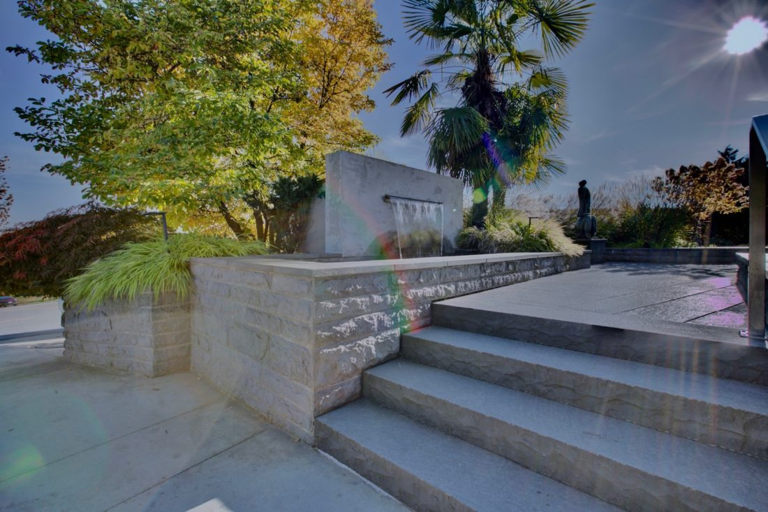 Backyard Steps and Waterfall